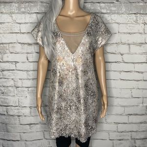 Free People Shattered Glass Sequin Mini Dress